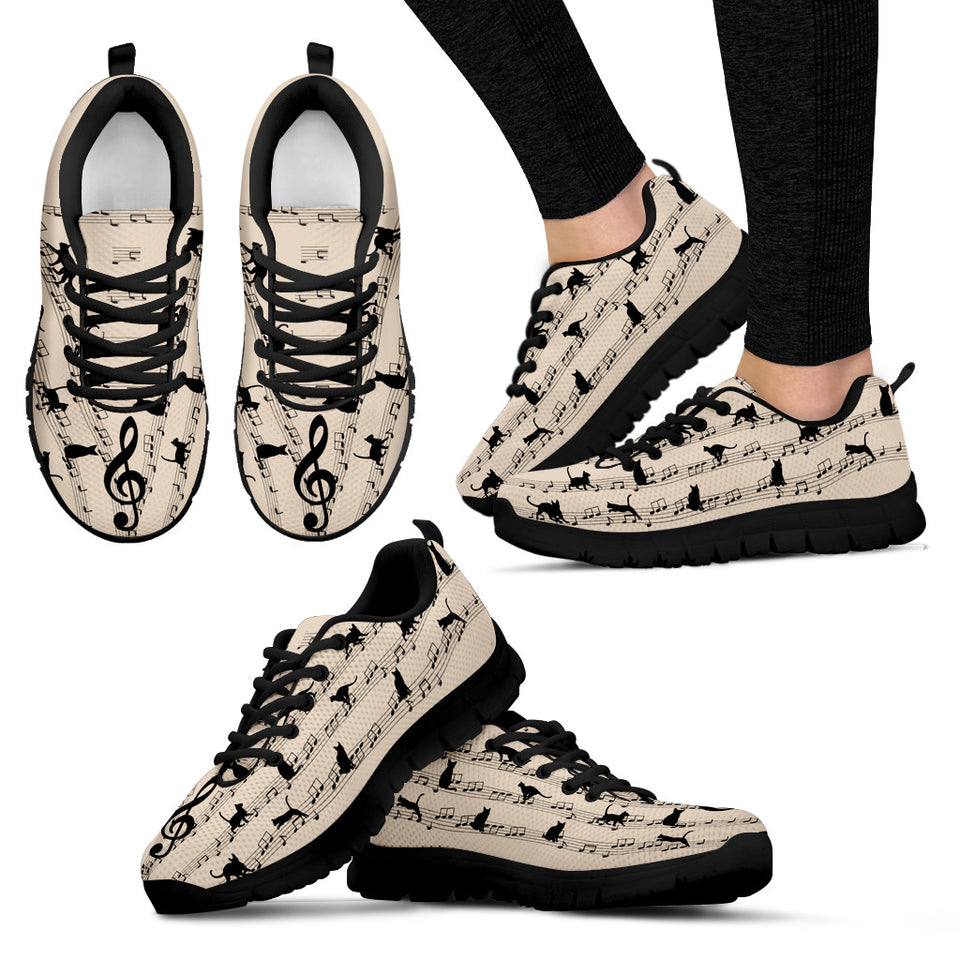 Music Cat Treble Clef Sneaker - Wonder Cute Official