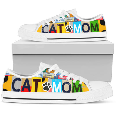 Cat Mom Low Top Shoes