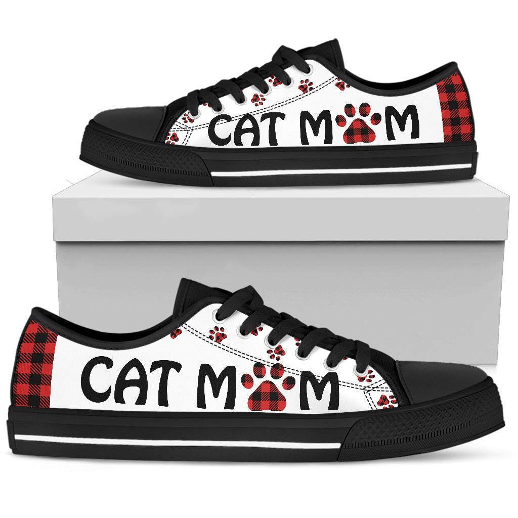 Cat Mom Cute Low Top Shoes