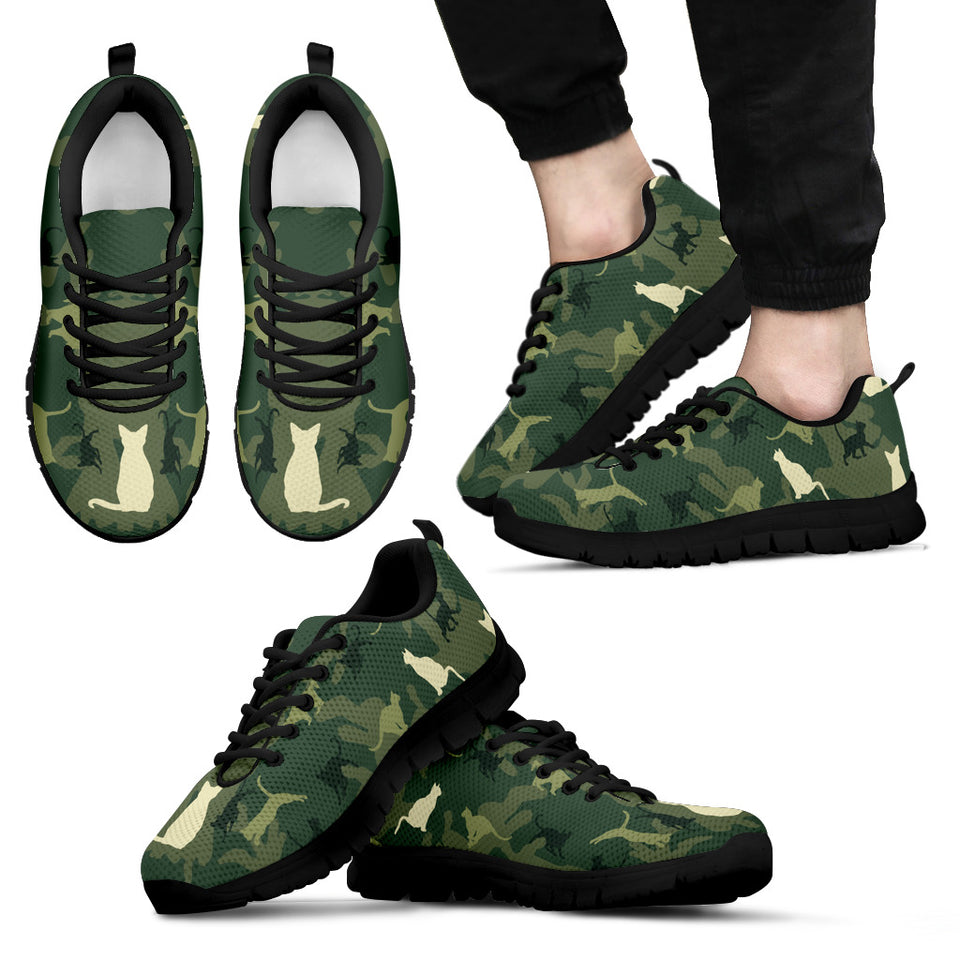 Camo Cat Women Sneaker Black hiep - Wonder Cute Official