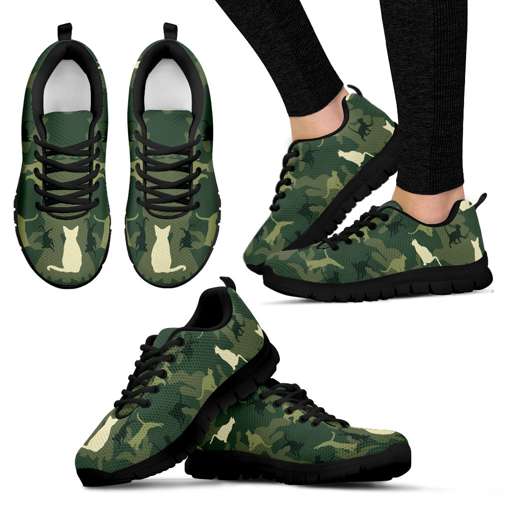 Camo Cat Women Sneaker Black hiep