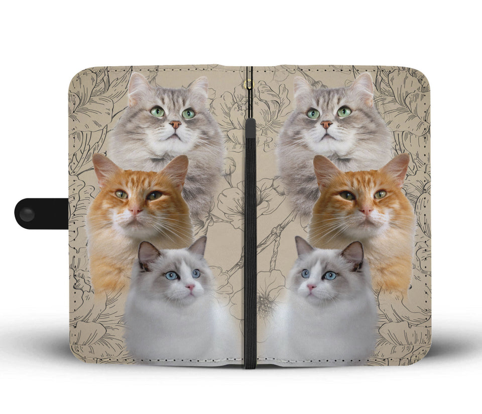 Three Cute Cats Wallet Phone Case - Wonder Cute Official