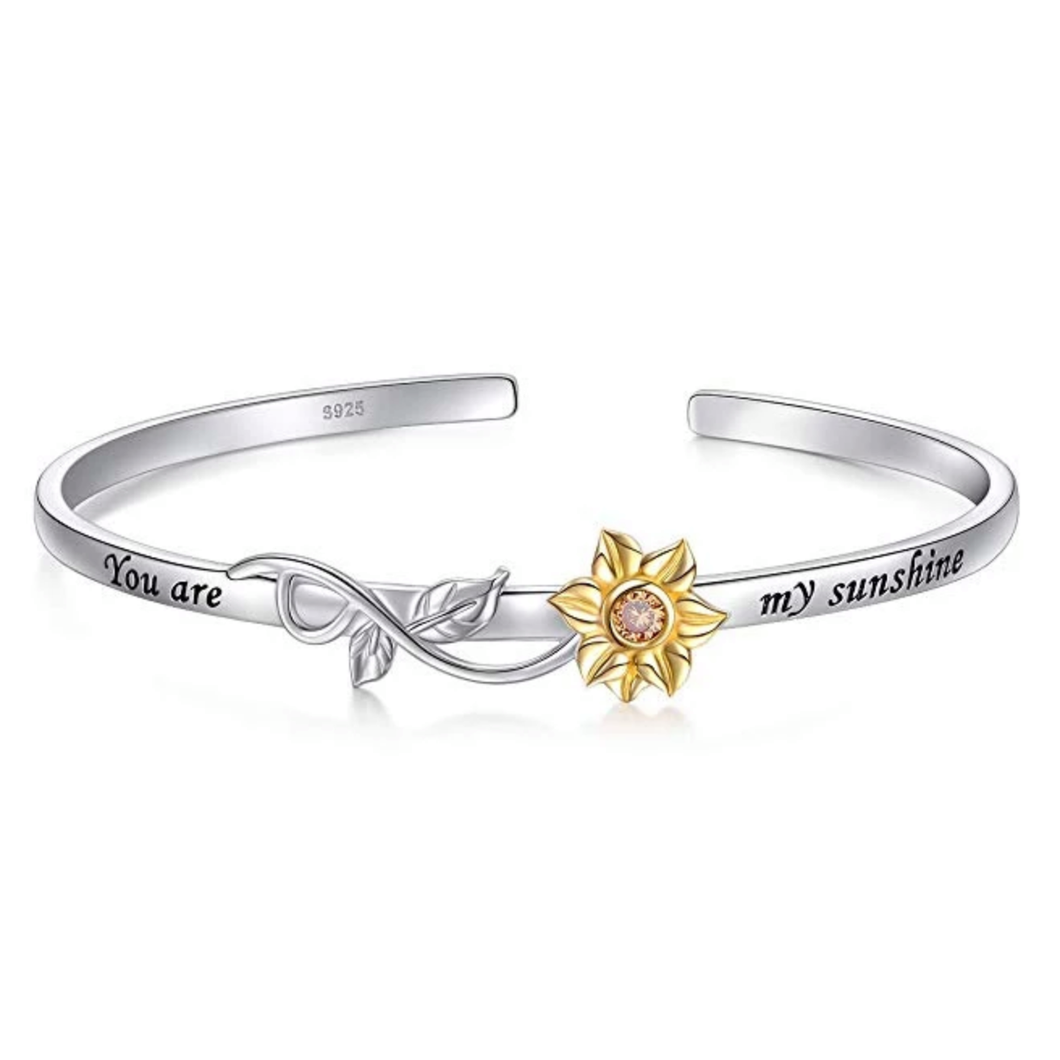 You Are My Sunshine Sunflower Bangle Bracelet Jewelry Accessories - Wonder Cute Official