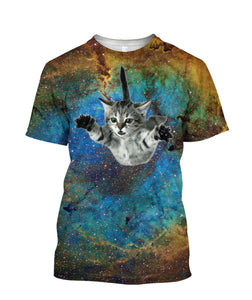 Galaxy Cat 3D full printed t-shirt - Wonder Cute Official