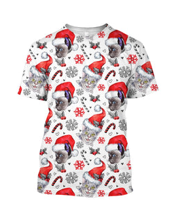 Santa Claus Cat Christmas 3D full print t-shirt - Wonder Cute Official