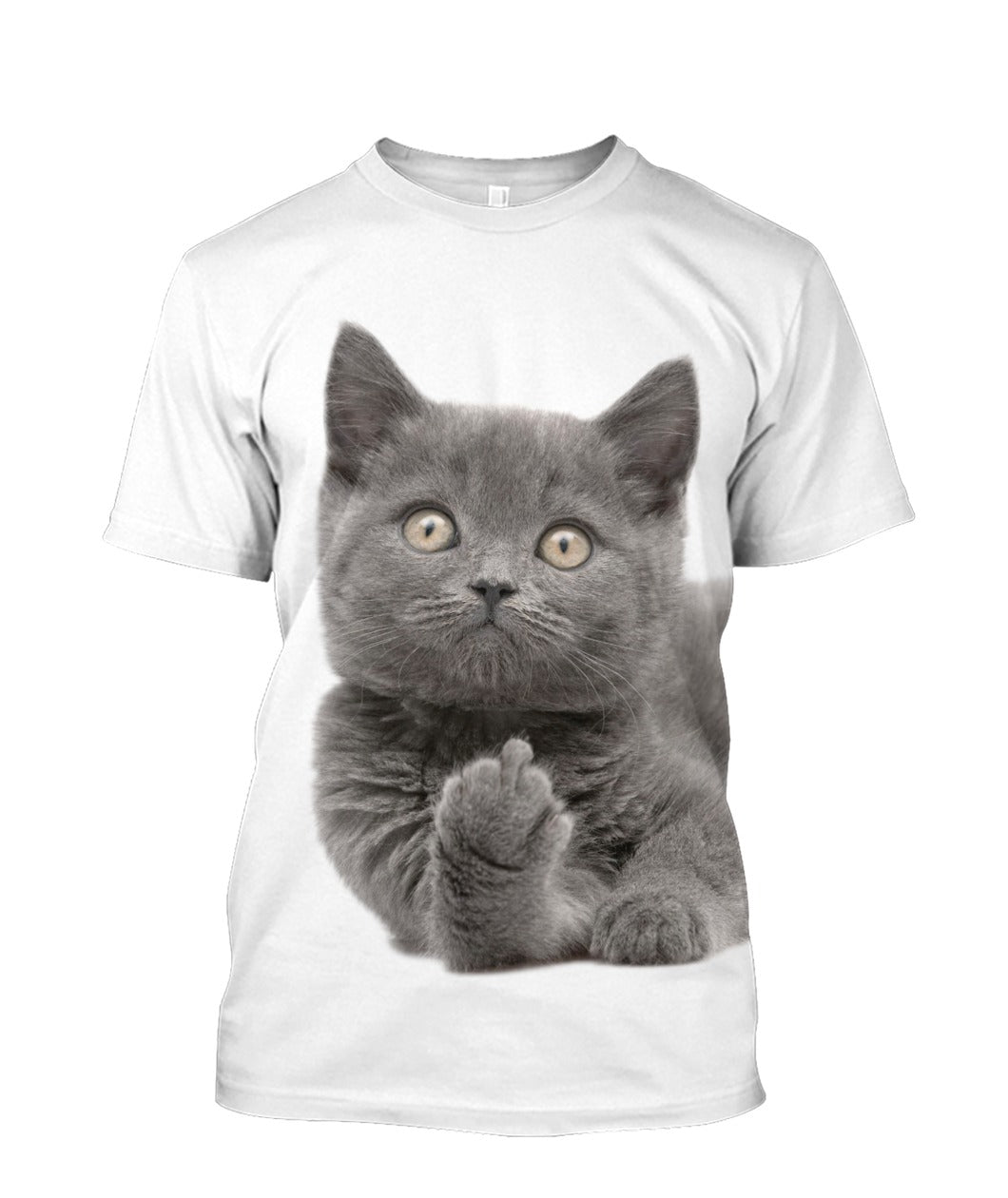 F Finger Funny Cat 3D full print t-shirt