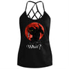 Summer Sleeveless Sexy Backless Hollow Out What Cat Gothic Tank Top For Women - Wonder Cute Official
