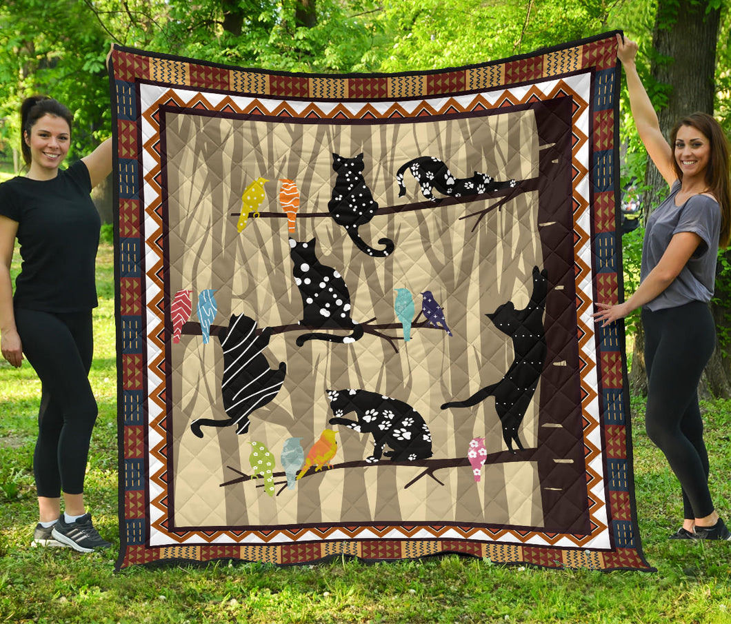 Vintage Cat Quilt For Bedding