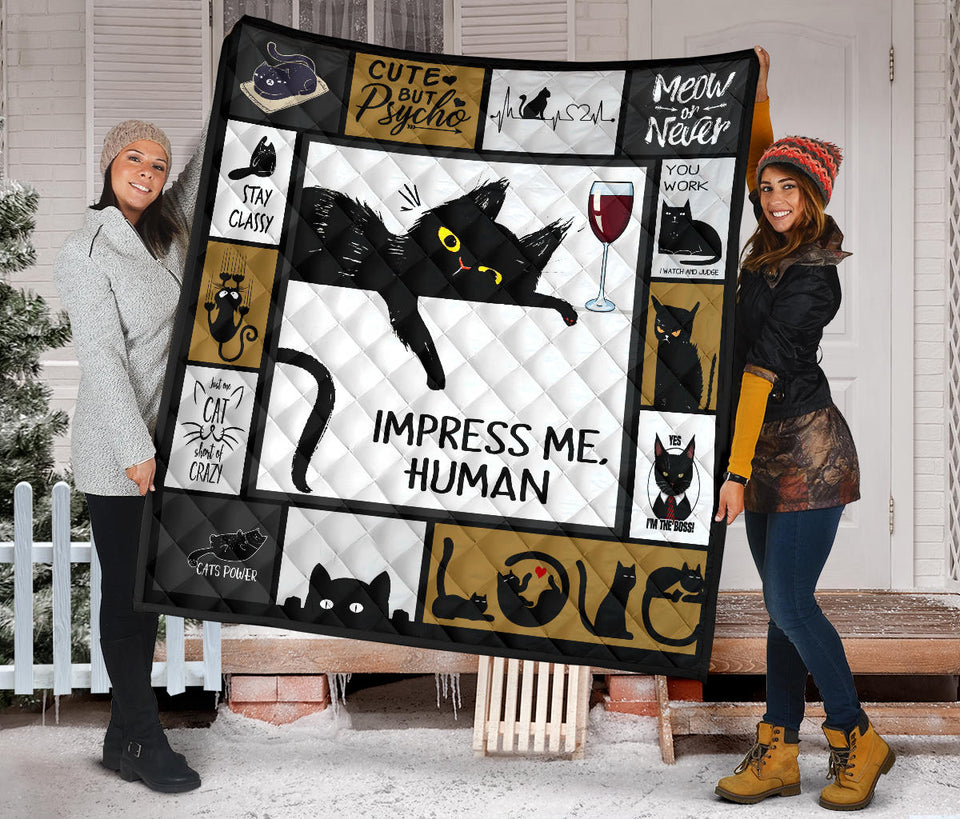 Impress Me Human Cat Quilt For Bedding - Wonder Cute Official