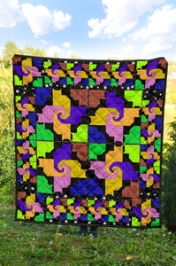 Cats And Friends Pattern Premium Quilt 5