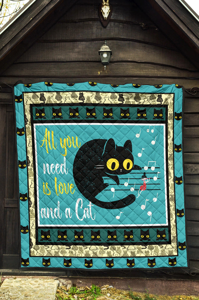 All You Need Is Love And Cats Cat Quilt For Bedding