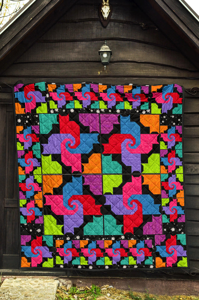 Cats And Friends Pattern Premium Quilt 4