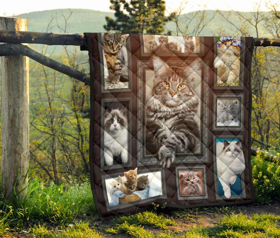 Cute Windows Cat Quilt For Bedding - Wonder Cute Official