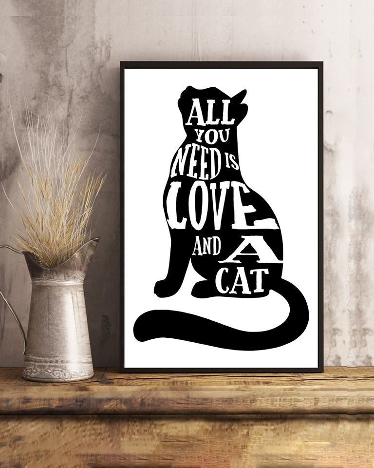 All you need is love and cats Poster - Wonder Cute Official