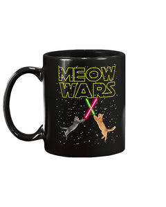 Meow Wars Black Ceramic Mug Cup
