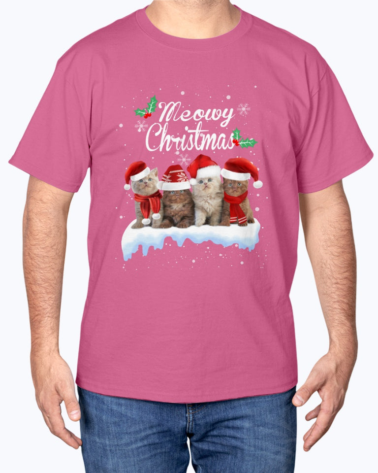 Merry Christmas Cat T-shirt - Wonder Cute Official