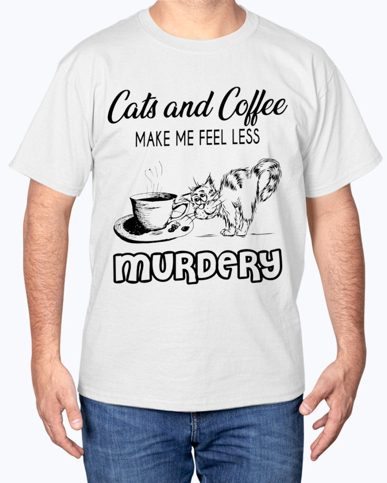 Cats and Coffee Cute Funny Cat T-shirt - Wonder Cute Official