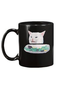 Funny Cat Meme Black Ceramic Mug Cup