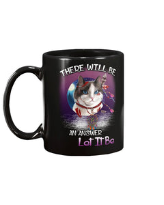 There Will Be An Answer Black Ceramic Mug Cup