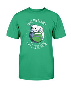 Save the planet cats live here tshirt - Wonder Cute Official