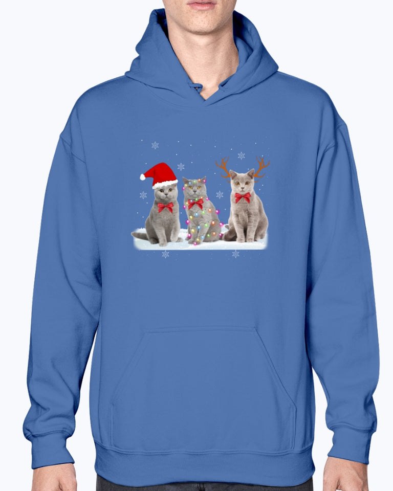 Christmas Santa Claus Snow Cat T-Shirt
