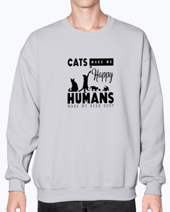 Cats Makes Me Happy Funny Cute T-shirt