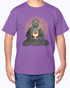 Cat And Buddha  T-shirt