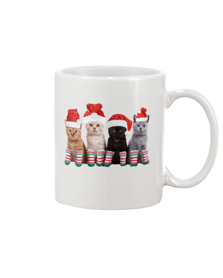 Cat Christmas White Ceramic Mug Cup - Wonder Cute Official