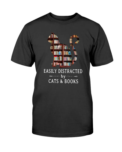 Easily Cats and Book tshirt
