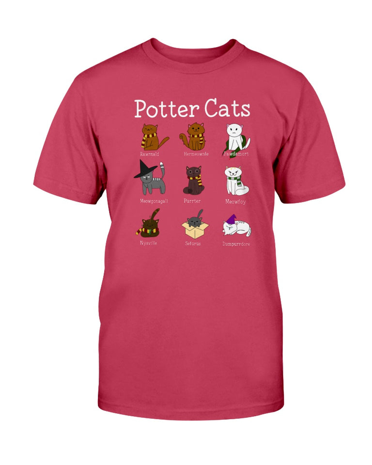 Potter cats funny Harry Potter cat t-shirt