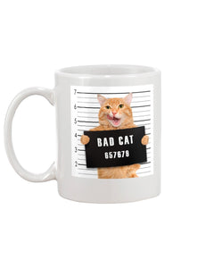 Bad Cat Funny  White Ceramic Mug Cup - Wonder Cute Official