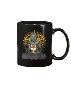 Zen Cat Black Ceramic Mug Cup - Wonder Cute Official