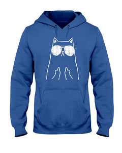 Fluff you funny cat middle finger tshirt
