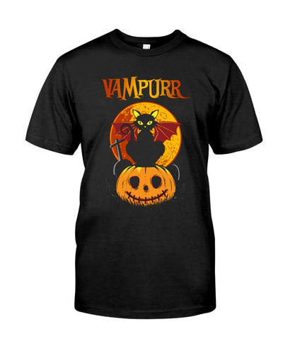 Vampurr Cat Halloween Funny Cute Cat T-shirt - Wonder Cute Official