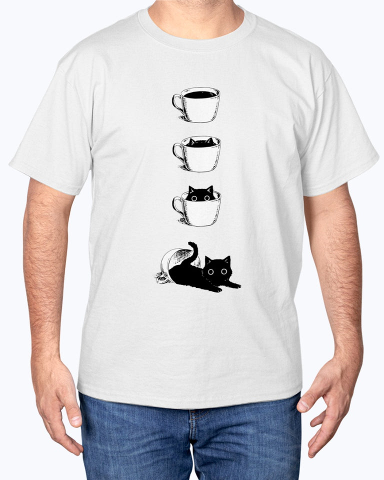 Cat In The Cups Funny Cute T-shirt
