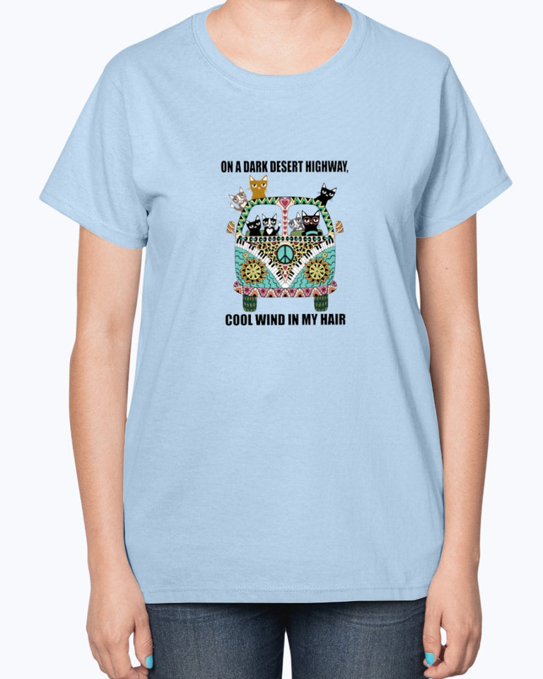 On A Dark Desert Highway Funny Cute T-shirt