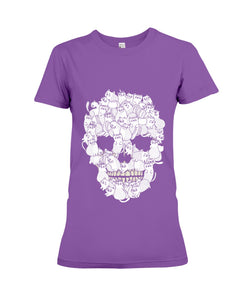 Skull Cat Funny Cute Cat T-shirt