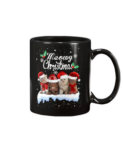Meowy Christmas Black Ceramic Mug Cup - Wonder Cute Official