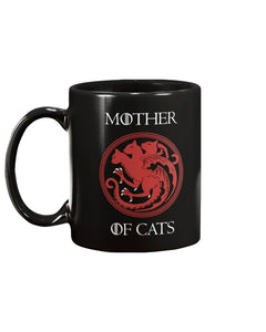 Mother Of Cats Black Ceramic Mug Cup