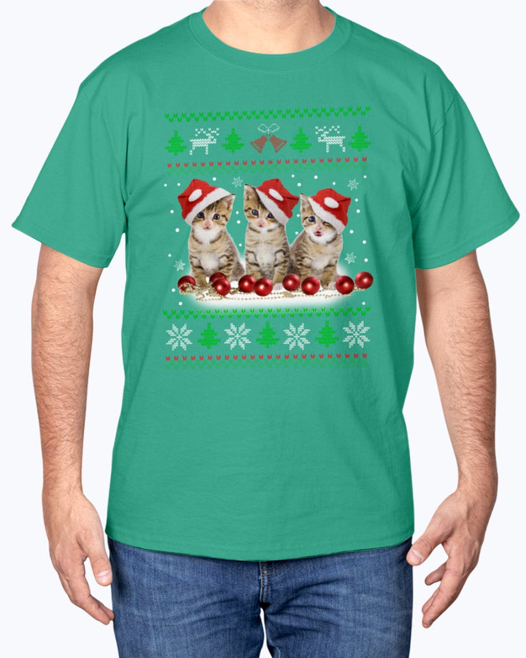 Christmas Cat Holiday T-Shirt