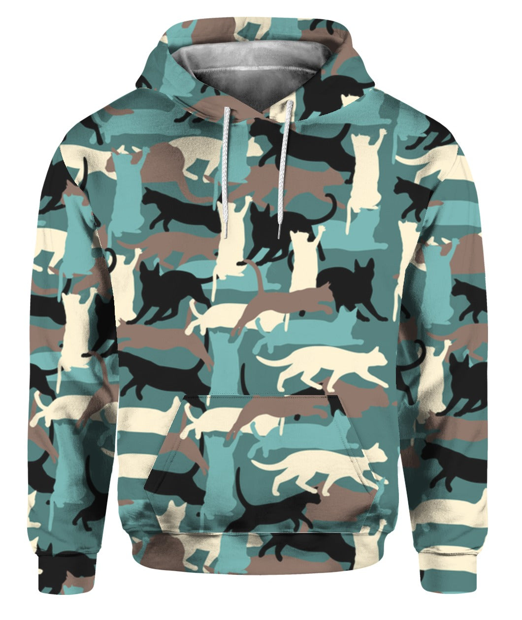 Camouflage Cat Patterns 3D Hoodie Full Printed