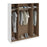 Brooke High Gloss Grey and White 4 Door Wardrobe - FurniComp
