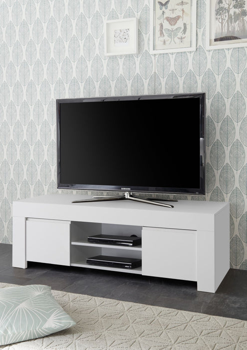 Roma Matt White 2 Door TV Unit - FurniComp