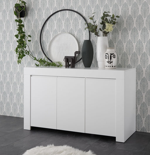 Roma Matt White Sideboard Storage Cabinet - FurniComp