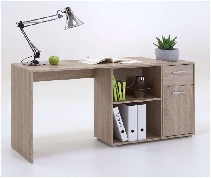 Turin Oak Flexible Corner Computer Desk Study Table Home Office Furniture