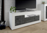 Siena 3 Door White Gloss and Anthracite TV Unit - FurniComp