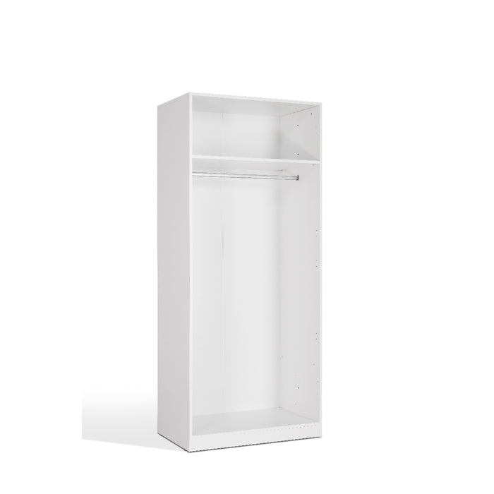Lily High Gloss White 2 Door Wardrobe - FurniComp