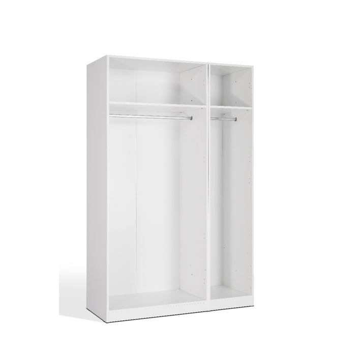 Olivia 3 Door White Mirrored Wardrobe - FurniComp