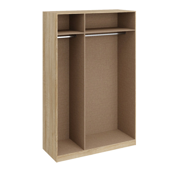 Orla Oak 3 Door Wardrobe - FurniComp