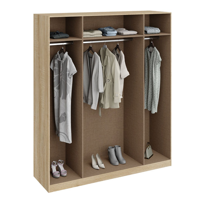 Orla Oak 4 Door Wardrobe - FurniComp